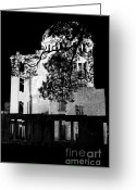 Devastation Greeting Cards - A-bomb Dome Greeting Card by Dean Harte