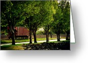 Boxcar Greeting Cards - A Boxcar Story Greeting Card by Kerry Kralovic