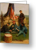 Confederates Greeting Cards - A Break Playing Cards Greeting Card by Julian Scott