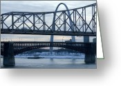 St Louis Missouri Greeting Cards - A Bridge In St. Louis, Missouri At Dusk Greeting Card by Joel Sartore
