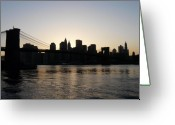 Bridge Greeting Cards - A Bridge Over The River Hudson Greeting Card by Kendall Eutemey