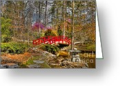 Spring Time Greeting Cards - A Bridge to Spring Greeting Card by Benanne Stiens