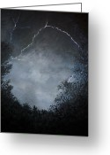 Lightening Storm Greeting Cards - A Brief Moment in Time Greeting Card by Paul Horton