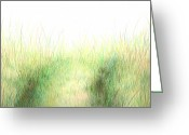 Bright Drawings Greeting Cards - a Bright Day in a Field Greeting Card by Michael Landa