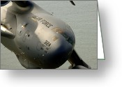 Freight Greeting Cards - A C-17 Globemaster Iii Banks Greeting Card by Stocktrek Images