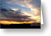 Gloaming Greeting Cards - A California Sunset Greeting Card by Glenn McCarthy Art and Photography