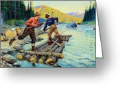 Sportsmen Greeting Cards - A call to Action Greeting Card by Pg Reproductions