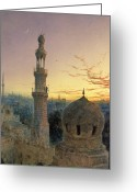 Minaret Greeting Cards - A Call to Prayer Greeting Card by Henry Stanier