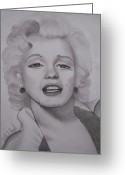 Marilyn Munroe Greeting Cards - A Candle In The Wind Greeting Card by Deborah Peacock