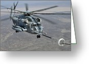 Bara Greeting Cards - A Ch-53e Super Stallion Approaches Greeting Card by Stocktrek Images
