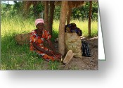 Zambia Photo Greeting Cards - A Chance Encounter Greeting Card by Aidan Moran