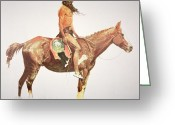 Remington Greeting Cards - A Cheyenne Brave Greeting Card by Frederic Remington
