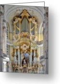 Protestant Greeting Cards - A church filled with music - Church of Our Lady Dresden Greeting Card by Christine Till
