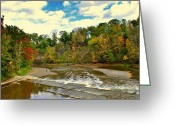 Family Love Greeting Cards - A Cleveland Autumn Greeting Card by Robert Harmon