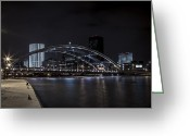 Rochester Ny Greeting Cards - A Cold Night - Color Greeting Card by Anton Shilman