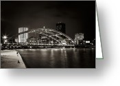 Rochester Ny Greeting Cards - A Cold Night Greeting Card by Anton Shilman