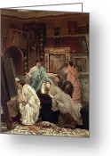 Easel Greeting Cards - A Collector of Pictures at the Time of Augustus Greeting Card by Sir Lawrence Alma-Tadema
