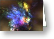 Twinkle Greeting Cards - A Colorful Nebula In The Universe Greeting Card by Corey Ford