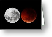 Winter Solstice Greeting Cards - A Composite Showing The Moon Greeting Card by Luis Argerich