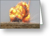 Iraq Greeting Cards - A Controlled Detonation Is Set Greeting Card by Stocktrek Images