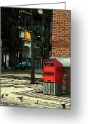 Mario Brenes Simon Greeting Cards - A corner in Edmonton Greeting Card by Mario Brenes Simon