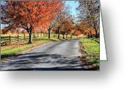 Highways Greeting Cards - A Country Drive Greeting Card by JC Findley