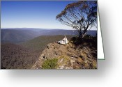 Trees And Rock Cliffs Greeting Cards - A Couple Embraces Whilst Resting Greeting Card by Jason Edwards