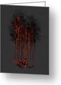 Woods  Greeting Cards - A crimson retaliation Greeting Card by Budi Satria Kwan