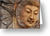Asian Art Greeting Cards - A Cry Is Heard Greeting Card by Christopher Beikmann