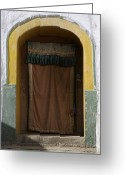World Culture Greeting Cards - A Curtained Entrance To A Monastery Greeting Card by David Evans