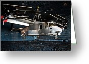 Eglin Greeting Cards - A Cv-22 Osprey Hangs In A Anechoic Greeting Card by Stocktrek Images