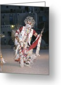 Ethnic And Tribal Peoples Greeting Cards - A Dakota Sioux Indian Dances Greeting Card by Taylor S. Kennedy