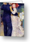Engagement Painting Greeting Cards - A Dance in the Country Greeting Card by Pierre Auguste Renoir