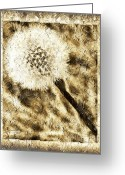 Seed Mixed Media Greeting Cards - A Dandy Glow Greeting Card by Andee Photography