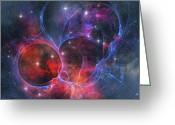 Twinkle Greeting Cards - A Dark Nebula Is A Type Of Interstellar Greeting Card by Corey Ford
