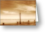 Lake Photographs Greeting Cards - A day at Goddard Greeting Card by Lourry Legarde