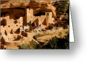 Anasazi Greeting Cards - A day at Mesa Verde Greeting Card by David Lee Thompson