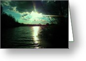 Realize Greeting Cards - A Day at the Lake Greeting Card by Robin Coaker