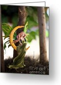 Fairies Art Greeting Cards - A day full of joy Greeting Card by Angelina Cornidez