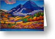 Autumn Painting Greeting Cards - A Day in the Aspens Greeting Card by Johnathan Harris