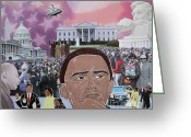 Barack Obama Mixed Media Greeting Cards - A Day To Remember Greeting Card by Martha Rucker