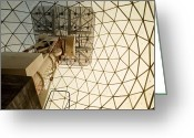Image Type Photo Greeting Cards - A Decommissioned Nato Radar Dome In Use Greeting Card by Gordon Wiltsie