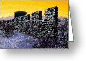 Purple Sky Greeting Cards - A Desert Host 2 Greeting Card by Glenn McCarthy Art and Photography
