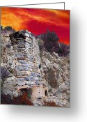Ancient Ruins Greeting Cards - A Desert Host 4  The Kiln Greeting Card by Glenn McCarthy Art and Photography