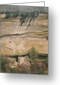 Pre Columbian Antiquities And Artifacts Greeting Cards - A Detail Of The Cliff Dwelling Ruins Greeting Card by Rich Reid