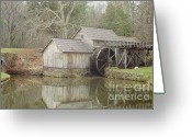 Most Photographed Photo Greeting Cards - A Different Version of Autumn Visits Mabry Mill Greeting Card by Shannon Slaydon