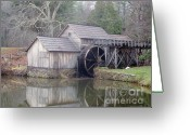 Most Photographed Photo Greeting Cards - A Different Version of Mabry Mill in the Fall Greeting Card by Shannon Slaydon