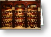 Displays Greeting Cards - A Display Of Tea In A Tea Shop Greeting Card by Richard Nowitz