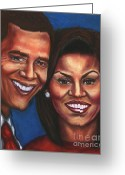 Michelle Obama Greeting Cards - A Dream Came True Greeting Card by Alga Washington