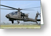 Agm-114 Greeting Cards - A Dutch Ah-64 Apache Deployed Greeting Card by Giovanni Colla